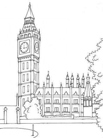 comment dessiner big ben. Black Bedroom Furniture Sets. Home Design Ideas