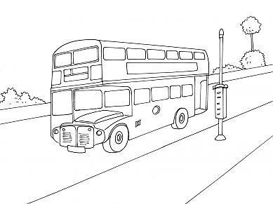 Pin coloriage bus anglais a imprimer gratuit on pinterest - Coloriage car anglais ...
